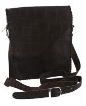 S-B5.2 Leather Cross Body Bag Brown 19x24x6cm